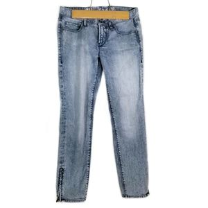 Madewell Acid Wash Ankle Zip Jeans